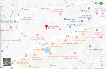 Location of Healthworks by Cilena Nixon